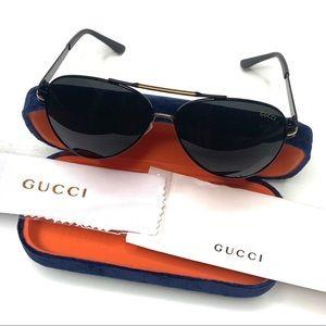 Gucci Polarized Brown & Gold Aviator sunglasses